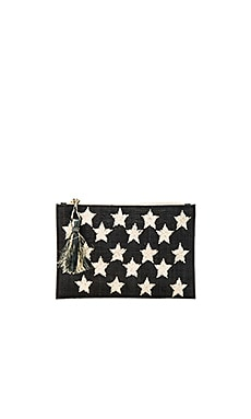 Star Clutch in Black