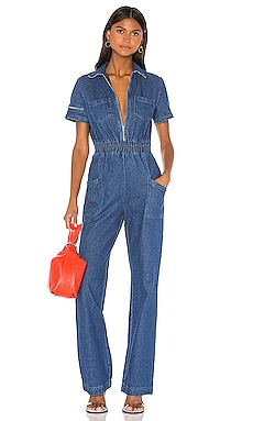 Charlie Fashion Denim Jumpsuit KENDALL + KYLIE $130