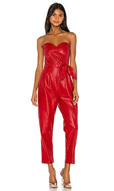 Bianca Vegan Leather Jumpsuit KENDALL + KYLIE $130