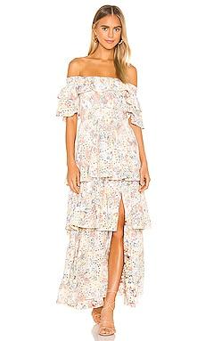Anglaise Maxi Ruffle Dress KENDALL + KYLIE $139