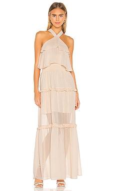 Ruffled Halter Maxi Dress KENDALL + KYLIE $119