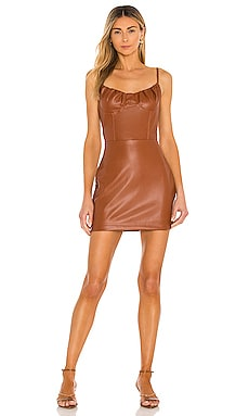 Vegan Leather Mini Dress KENDALL + KYLIE $98