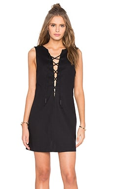 KENDALL + KYLIE Lace Front Dress in Black