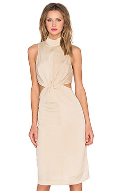 KENDALL + KYLIE Knot Front Jersey Dress in Puff