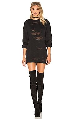 Deconstructed Terry Tunic Dress