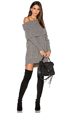 Oversized Cable Tunic Sweater