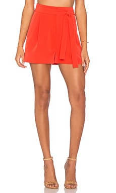 KENDALL + KYLIE Self Belt Short in Grenadine