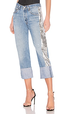 Sequin Repurposed Denim