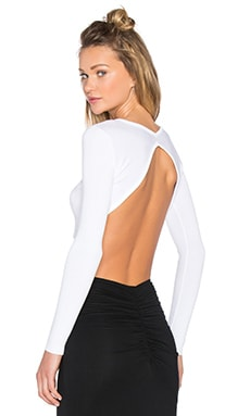 KENDALL + KYLIE Knit Crop Sweater in White