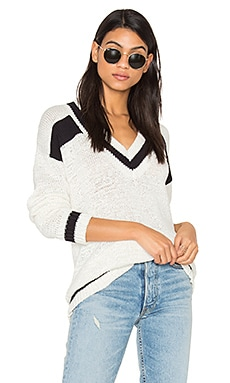 Rugby Sweater in Bright White