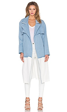 KENDALL + KYLIE Denim Trench Coat in Denim