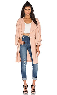 KENDALL + KYLIE Lightweight Trench Coat in Sepia