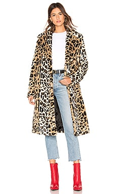 Faux Fur Long Coat KENDALL + KYLIE $385