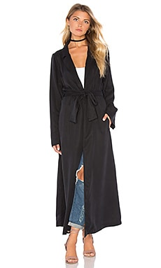 KENDALL + KYLIE Duster Coat in Black