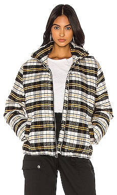 Plaid Puffer Jacket KENDALL + KYLIE $59
