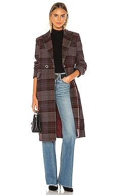 Plaid Overcoat KENDALL + KYLIE $87