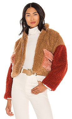 Sherpa Front Zipped Utility Jacket KENDALL + KYLIE $195
