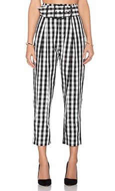 High Rise Trouser in Gingham