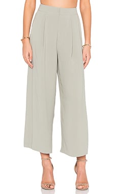 Wide Leg Pant in Grisaille