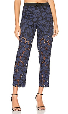 Lace Trouser in Tru Navy