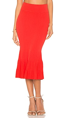 Ottoman Mermaid Skirt in Fiery Red