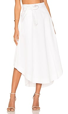 Swing Skirt in Bright White