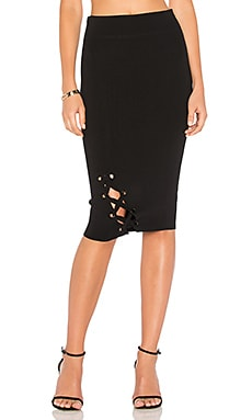 Lace Up Midi Skirt