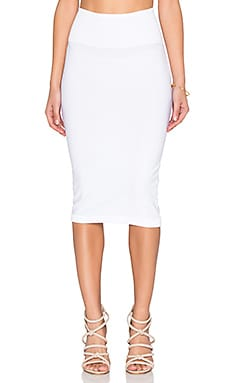 KENDALL + KYLIE Knit Pencil Sweater Skirt in White