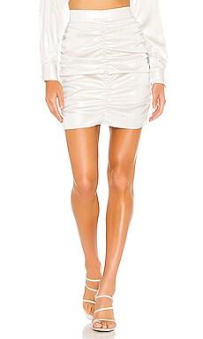 Gloss Ruching Mini Skirt KENDALL + KYLIE $69