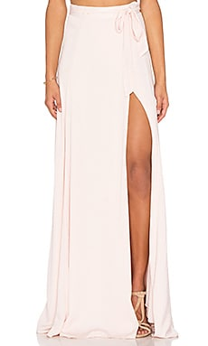 Maxi Wrap Skirt in Soft Pink