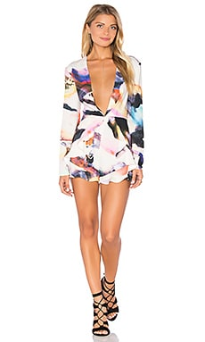 Flutter Long Sleeve Romper in Multi