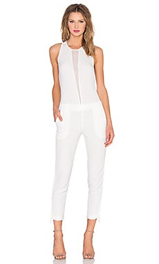 KENDALL + KYLIE Tuxedo Jumpsuit in White