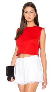 Sleeveless Pierced Top in Grenadine