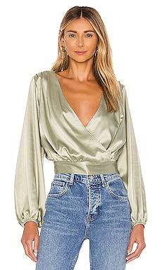 Блузка balloon sleeve - KENDALL + KYLIE, Зеленый, Блузки