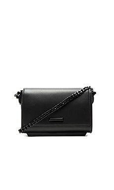 KENDALL + KYLIE Adley Shoulder Bag in Black Smooth Leather