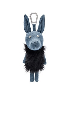 Norman Denim Dog Charm in Placid Blue Denim