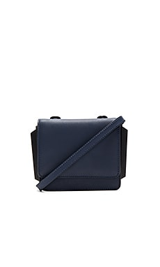 KENDALL + KYLIE Baxter Crossbody in Navy Smooth Leather