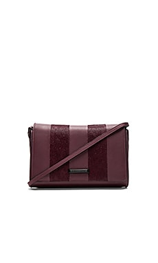 Bobino Clutch in Red Plum Smooth Leather & Pony Hair