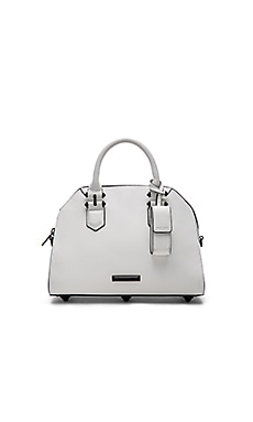 Holly Satchel en White Smooth Leather