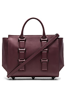 Katherine Satchel in Red Plum Smooth Leather