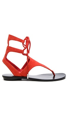Faris Sandal in Medium Red