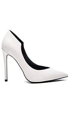 Abi Heel in White Leather