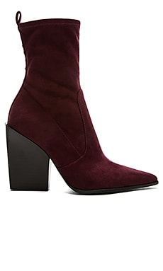 Felicia Bootie in Dark Red Fabric