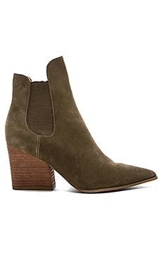 Finley Bootie in Medium Green