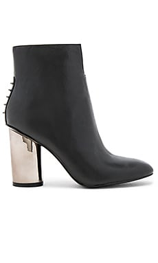 x REVOLVE Kenzie Bootie in Black Dress Calf