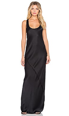 KES Maxi Tank Dress in Washed Black
