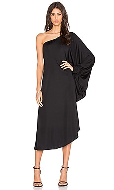 KES Bare Shoulder Dress in Black