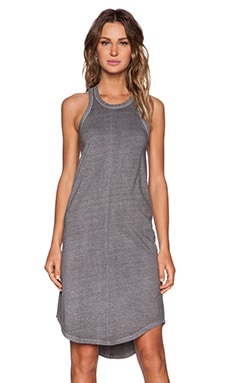 KES Racer Back Tank Dress in Graphite