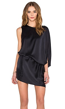 KES Aysmmetrical Tunnel Dress in Midnight