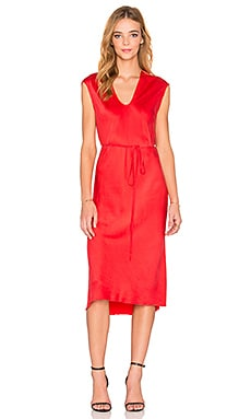 KES Cap Sleeve Dress in Fire